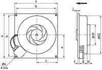 Канальный вентилятор Ostberg KVFU 125 C EC