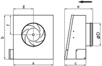 Настенный вентилятор Ostberg RS 125 C