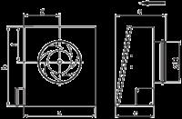 Настенный вентилятор Ostberg RS 100 C1 EC