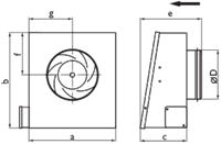Настенный вентилятор Ostberg RS 125 C1 EC