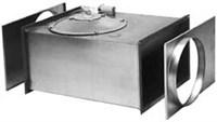 Прямоугольный канальный вентилятор RK 600x350 E1 / Круглый канальный вентилятор (при использовании комплекта адаптеров) RKC 355 E1
