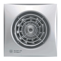 Накладной вентилятор Soler Palau SILENT-100 CDZ SILVER ECOWATT